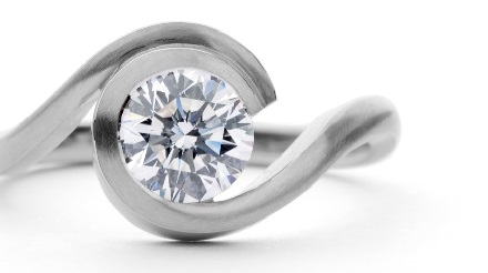 modern diamond engagement ring design