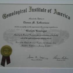 diploma gemology